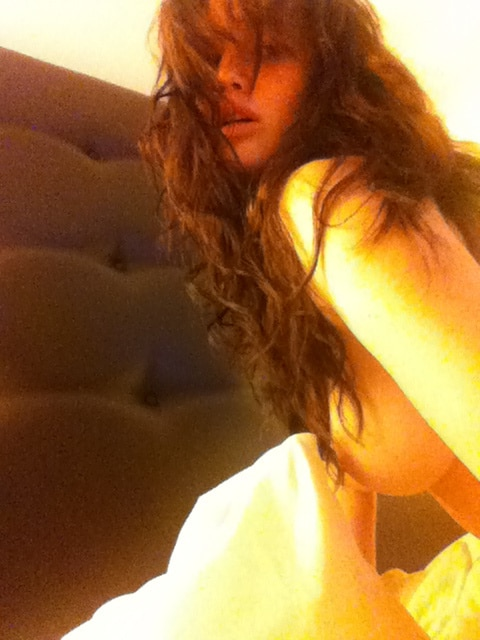 Jennifer Lawrence Nude Selfie In Bed Dark Hair