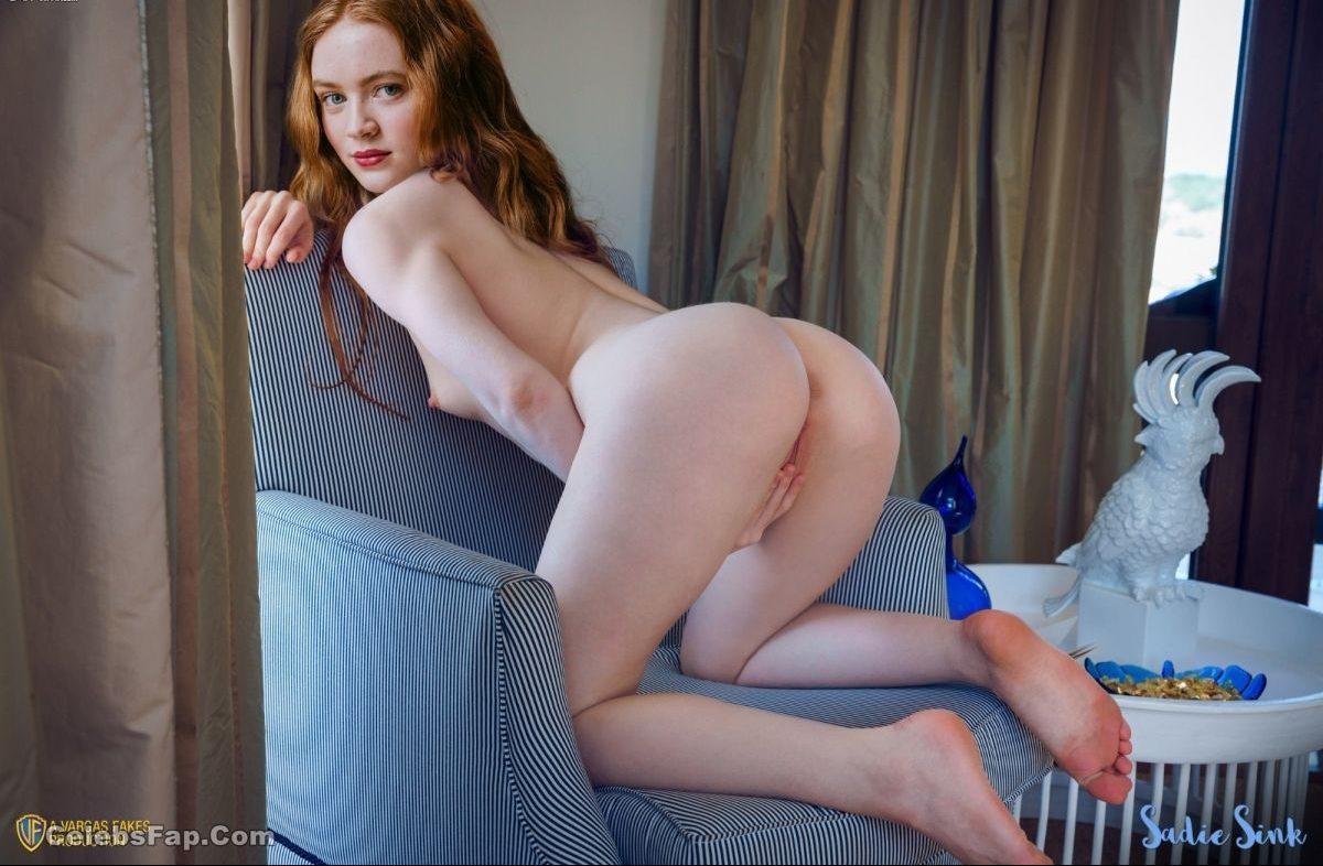 Redhead Bitch Sadie Sink Nude Sex Photos ( Deepfake ) 010